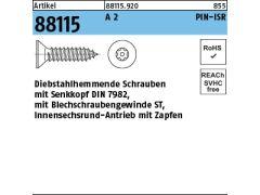200 Stück Blechschrauben Senkkopf DIN 7982-C 4,2x 70 PH -H A2 Kreuzschl. Spitze