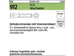 10x DIN 912 Zylinderschraube verzinkt gelb c Innensechskant M 6 x 30 8.8 galv