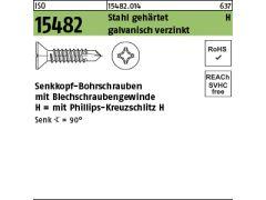 1000 Sechskant Bohrschrauben DIN 7504 verzinkt K 4,2x19