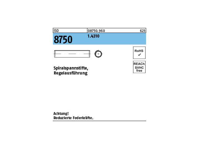 25 Spannstifte//Spannhülsen DIN 1481 EDELSTAHL 3,5X12