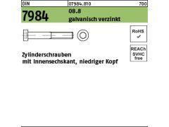 5 x Schraube M8x60 Sechskant DIN 933 verzinkt