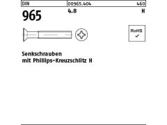 Senkkopfschrauben Kreuzschlitz 5 mm DIN 965 M 5 x 40 mm Edelstahl A2 25 Stk