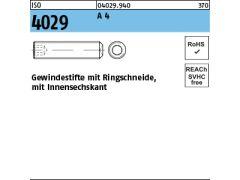 10 St/ück Gewindestifte mit Spitze VA2 Madenschrauben DIN 914 M4x10