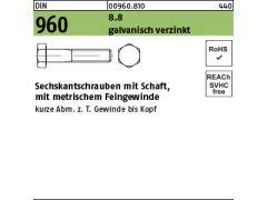 50x Sechskantschrauben M12 x 65 Vollgewinde DIN933 EN 8.8 Stahl Bolzen Schrauben