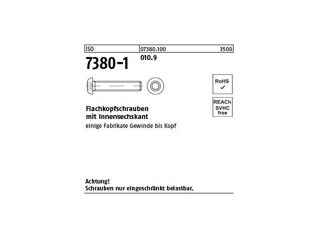Linsenschrauben mit Bund V2A Innensechskant - Edelstahl A2 - 5 St/ück ISK Flachkopfschrauben mit Flansch u Flanschschrauben - M8x16 ISO 7380 Zaunschrauben D/´s Items/®