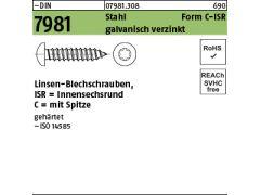 100 Linsenkopf-Blechschrauben Edelstahl 4,8 x 70 mm /• ISO 14585 // DIN 7981 /• Linsenblechschraube mit Innensechsrund T25 /• Werkstoff A2 Torx VA // V2A