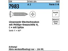50 St/ück 3,9 x 32 mm Blechschrauben DIN 7981 ISO 14585 TORX Edelstahl A2 VA V2A Linsenkopf