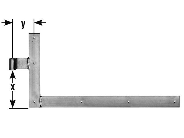 Kreuzband Fensterladen  Ø13 mm,250 x 200 x 30 mm,Kreuzbänder rechts