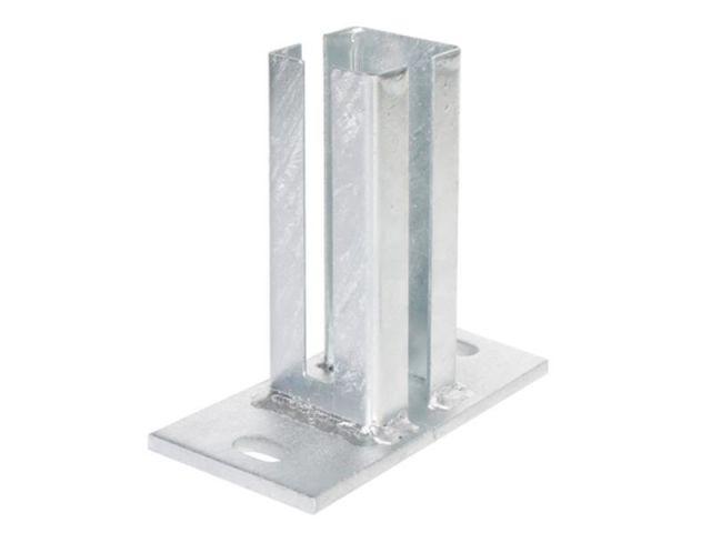 5-er Set H-Anker für 14 cm Pfosten Pfostenträger Betonanker Schrauben