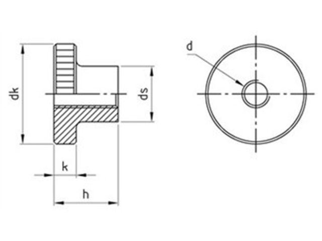 Edelstahl A1  M 8x16 25 Stück Hohe Rändelschrauben DIN 464