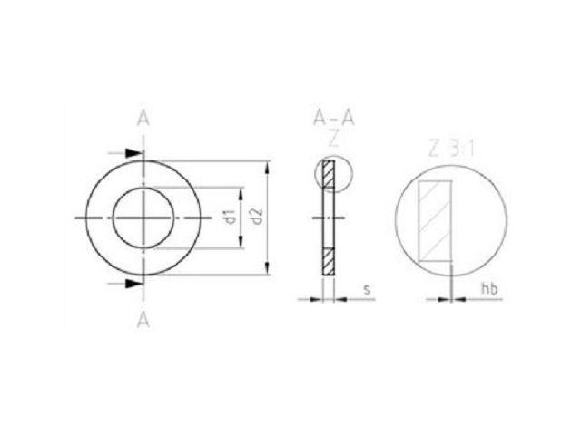 A2 d =  3 für M 3 500 Stück Unterlegscheiben nach NFE 25-514-Typ L-Edelst