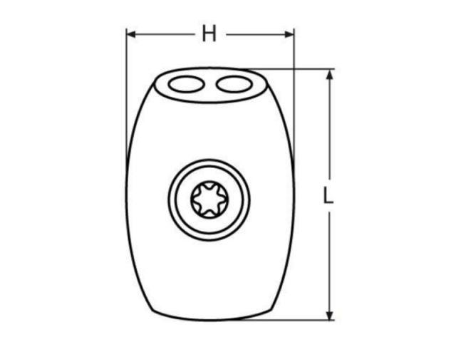 Edelstahl A4 Seil-Ø= 2 mm einfach 40 Stück Simplex-Drahtseilklemmen