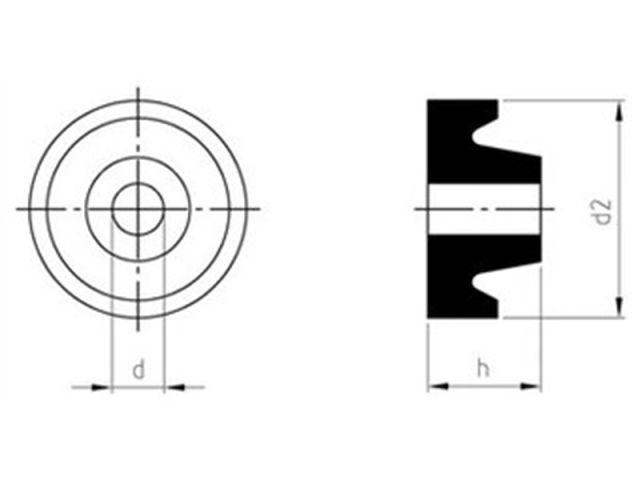 EPDM Dichtung für Stockschrauben  Art.9082 Schwarz  M8 M10 M12